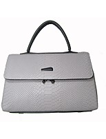 cheap -Women Bags Cowhide Tote Zipper for Casual Office & Career All Season Gray