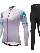 cheap -CYCOBYCO Cycling Jersey with Tights Women's Long Sleeves Bike Pants / Trousers Jersey Tights Top Clothing Suits Bike Wear Reflective