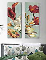 abordables -Impresión de lienzo Rústico Modern,Dos Paneles Lienzos Vertical Estampado Decoración de pared Decoración hogareña
