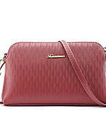 cheap -Women Bags PU Shoulder Bag Zipper for Casual All Season Light Grey Purple Blushing Pink Red Black