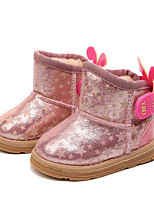 cheap -Girls' Shoes Leatherette Spring Fall Comfort Snow Boots Boots Booties/Ankle Boots for Casual Pink Gold