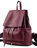 cheap -Women's Bags Cowhide Backpack Zipper for Casual All Seasons Blue Black Wine