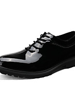 cheap -Men's Shoes Patent Leather Spring Fall Comfort Oxfords for Casual Office & Career Black White