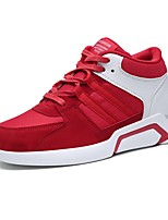 cheap -Shoes PU Spring Fall Comfort Sneakers for Casual Outdoor Black Gray Red Black/White