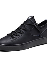 cheap -Men's Shoes Cowhide Spring Fall Comfort Sneakers for Athletic Black Gray