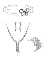 cheap -Women's Headwear Bridal Jewelry Sets Rhinestone Fashion European Wedding Party Imitation Diamond Alloy Line Butterfly Body Jewelry 1
