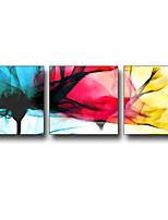 Недорогие -Мультипликация фантазия Иллюстрации Предметы искусства,Пластик материал с рамкой For Украшение дома Предметы искусства в рамках Гостиная