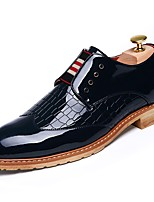 cheap -Shoes PU Spring Fall Comfort Oxfords for Casual Black Beige Red Blue