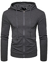cheap -Men's Daily Print Hooded Hoodie Regular, Long Sleeves Winter Autumn/Fall Cotton
