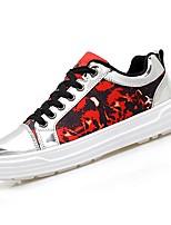 Недорогие -обувь Полиуретан Весна Осень Удобная обувь Кеды для Повседневные Черный Серебряный