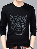 cheap -Men's Teen Daily Sweatshirt Animal Print Round Neck Micro-elastic Polyester Long Sleeve Fall