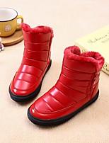 Недорогие -Девочки обувь Искусственное волокно Зима Осень Удобная обувь Зимние сапоги Ботинки Ботинки для Повседневные Черный Красный