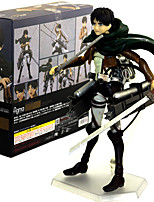 cheap -Anime Action Figures Inspired by Attack on Titan Eren Jager PVC 14 CM Model Toys Doll Toy