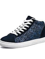Недорогие -Муж. обувь Полиуретан Весна Осень Удобная обувь Кеды для Повседневные Черный Черно-белый Черный / синий