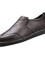 cheap -Men's Shoes PU Fall Comfort Oxfords for Casual Office & Career Brown Coffee Black
