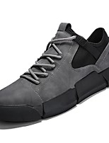 cheap -Men's Shoes Leatherette Spring Fall Comfort Sneakers for Casual Black/White Gray Black