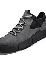 Недорогие -Для мужчин обувь Дерматин Весна Осень Удобная обувь Кеды для Повседневные Черный Серый Черно-белый