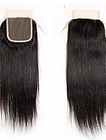 Недорогие -бразильские необработанные человеческие волосы кружева закрывают сушеные узлы с детскими волосами