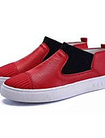 Недорогие -Муж. обувь Тюль Весна Осень Удобная обувь Мокасины и Свитер для Повседневные Белый Черный Красный