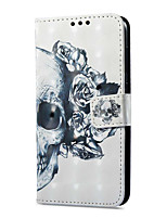 cheap -Case For Huawei P9 lite mini Card Holder Wallet with Stand Flip Magnetic Pattern Full Body Skull Hard PU Leather for P9 lite mini