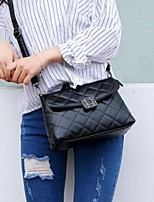 cheap -Women Bags PU Shoulder Bag Zipper for Casual All Season Black