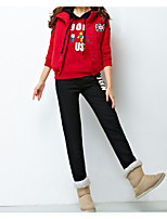 cheap -Women's Casual/Daily Simple Winter Hoodie Pant Suits,Others Hooded Long Sleeves Others