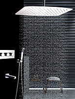 cheap -Contemporary Ceiling Mounted Rain Shower Handshower Included Ceramic Valve Four Handles Four Holes Stainless Steel, Shower Faucet