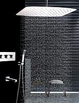 Недорогие -Современный Установка на потолок Дождевая лейка Ручная лейка входит в комплект Керамический клапан Четыре Ручки четыре отверстия