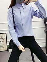 Camicia Da donna Casual Moda città Tinta unita Colletto Cotone Manica lunga