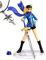 cheap -Anime Action Figures Inspired by Fate/stay night Saber PVC 23 CM Model Toys Doll Toy