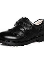 preiswerte -Jungen Schuhe Echtes Leder Frühling Herbst Komfort Loafers & Slip-Ons für Normal Schwarz