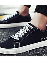 Недорогие -Для мужчин обувь Полотно Весна Осень Удобная обувь Кеды для Повседневные Черно-белый Черный/Желтый