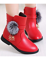 cheap -Girls' Shoes Leatherette Winter Fall Comfort Snow Boots Boots Booties/Ankle Boots for Casual Burgundy Red Black
