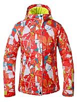 cheap -Women's Ski Jacket Warm Waterproof Windproof Wind Proof Skiing Camping / Hiking Ski/Snowboarding Back Country Polyester