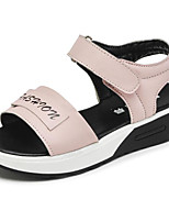 cheap -Girls' Shoes Synthetic Microfiber PU Spring Fall Comfort Sandals for Casual Pink Black White