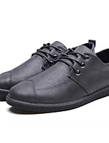 cheap -Men's Shoes Synthetic Microfiber PU Spring Fall Light Soles Oxfords for Casual Black Gray