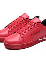 preiswerte -Herrn Schuhe Gummi Frühling Herbst Komfort Sneakers für Draussen Weiß Schwarz Rot
