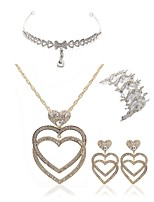 cheap -Women's Bridal Jewelry Sets forehead jewelry Rhinestone Fashion European Wedding Party Imitation Diamond Alloy Heart Body Jewelry 1