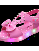 cheap -Girls' Shoes Leatherette Spring Summer Comfort Sandals for Casual Pink Peach White