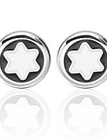 cheap -Snowflake Silver Cufflinks Universal Fashion Daily Formal Men's Costume Jewelry