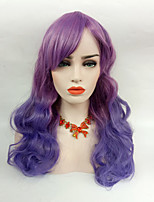 cheap -Women Synthetic Wig Ombre Purple/Blue Long Wavy Hair With Side Bangs Cosplay Wig.