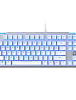 cheap -EK815 Wired Monochromatic Backlit Red Switches Black Switches Brown Switches Blue Switches 87 Mechanical Keyboard Spill-Resistant
