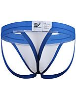 economico -Per uomo Boxer Semi-trasparente,Media elasticità Monocolore,Cotone Poliestere Nylon Elastene 1pc Bianco Nero Arancione Giallo Blu chiaro
