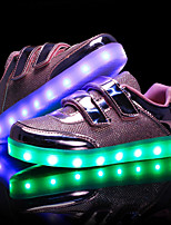cheap -Girls' Shoes PU Spring Fall Light Up Shoes First Walkers Light Soles Sneakers LED for Casual Outdoor Pink Silver Gold