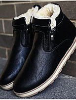 cheap -Men's Shoes PU Winter Fall Snow Boots Comfort Boots Booties/Ankle Boots for Casual Black Blue Camel