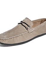 Недорогие -Муж. обувь Искусственное волокно Весна Осень Удобная обувь Мокасины и Свитер для Повседневные Черный Серый Хаки