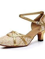 "cheap -Women's Modern Leatherette Sneaker Training Trim Low Heel Black Gold 1"" - 1 3/4"" Customizable"