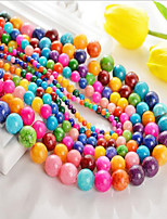 cheap -DIY Jewelry 48 Beads Rainbow Round Agate Bead 0.8 cm DIY Bracelet Necklace