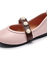 cheap -Girls' Shoes Leatherette Spring Fall Comfort Flower Girl Shoes Flats for Casual Dark Green Pink Black White
