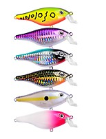 cheap -6 pcs Fishing Lures Crank Hard Bait Plastic Outdoor Sea Fishing Trolling & Boat Fishing Lure Fishing